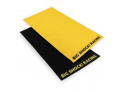 BSR towel black yellow 06